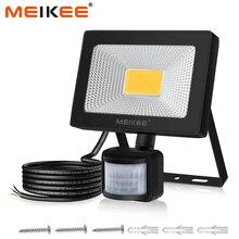 30W LED พร้อม Motion Sensor กันน้ำ AC110V 220V PIR Floodlight Projector โคมไฟ Spotlight กลางแจ้งสำหรับ Garden street