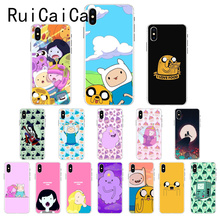 Ruicaica adventure time cute Beemo BMO Jake Finn Lumpy Case Cover for iPhone X XS MAX  6 6s 7 7plus 8 8Plus 5 5S SE XR 10 adventure time backpack with finn and jake cn bmo backpack beemo be more cartoon robot high grade pu green