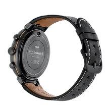 جلد طبيعي حزام (استيك) ساعة حزام ل ASUS ZenWatch 3 WI503Q