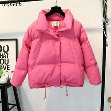 Woherb Women Winter Jacket 2019 Cotton Padded Women Coat Casaco Feminino Inverno Candy Color