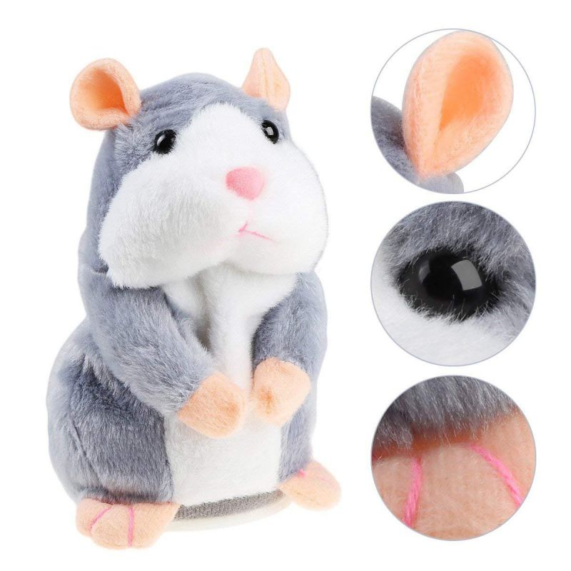 Cheeky Hamster Talking Mouse Pet Christmas Toy Speak Sound Record Hamster Xmas Record Mouse Pet Electronic Plush Toy Gifts