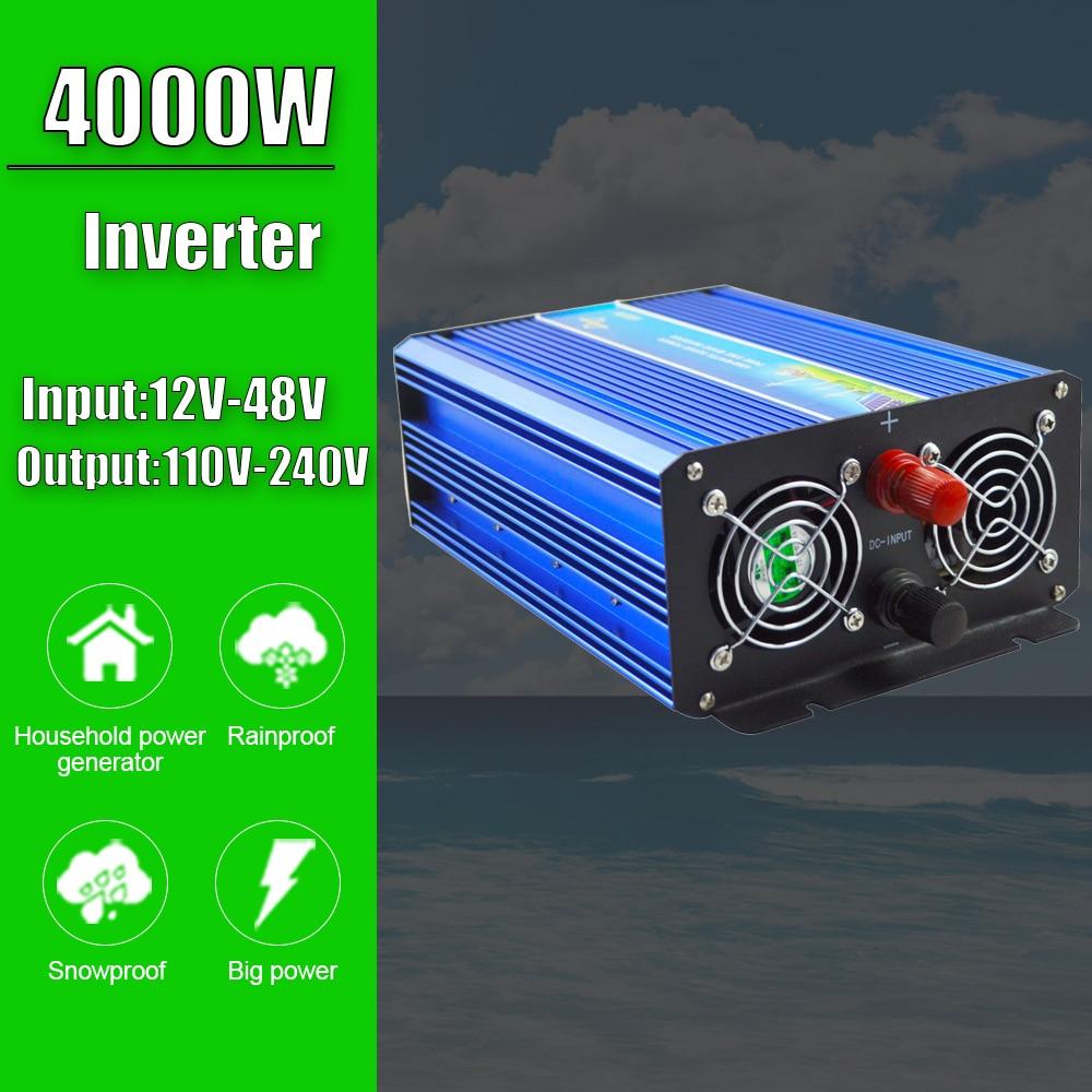 4000w fora da grade inversor de onda senoidal pura para o sistema de vento solar para