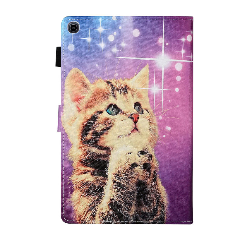 SM-T515 Case For Samsung Galaxy Tab A 10.1 2019 T510 T515 SM-T510 Cover Funda Tablet Cartoon Cute Cat Butterfly Stand Shell Capa