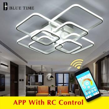 White&Black Lustre Modern Led Chandelier Living room Bedroom Dining Lighting Ceiling Lamp avize modern salon