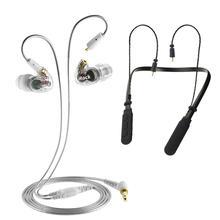 Ayrılabilir koaksiyel ses kablosu kulaklık Mic ile kablolu dönüştürme kablosuz kulaklık yüksek sadakat Bluetooth kulaklık yüksek çözünürlüklü