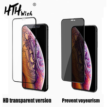 9D tempered glass For iphone 11 pro max Privacy screen protector protective Glass for