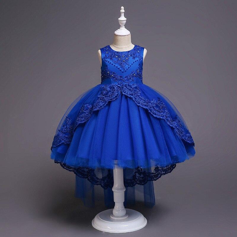 Childrenswear CHILDREN'S Dress Princess Dress Embroidery Girls Lace Dress Flower Boys/Flower Girls Tailing Tutu