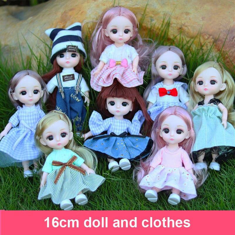 Muñeca BJD de 16 Cm y 13 articulaciones, zapatos de plástico para ropa de bebé, ropa informal, accesorios para niña, muñeca de moda, juguete DIY, regalo de Navidad|Muñecas| - AliExpress