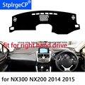 Для lexus NX300 NX200 коврик для приборной панели с правым приводом защитный коврик черный красный автомобильный Стайлинг обновление интерьера кл...
