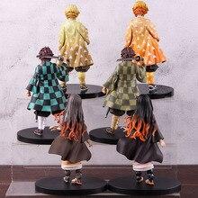 Tueur de démons Kimetsu No Yaiba Nezuko Kamado Tanjirou Hashibira Inosuke Zenitsu Agatsuma figurine Action PVC modèle à collectionner jouet