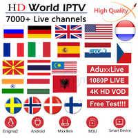 Europa IPTV Abbonamento Francia REGNO UNITO Tedesco Arabo Olandese Svezia Francese Polonia Portogallo Spagna Smart M3U 7000 In Diretta Android