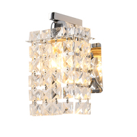 Silver Wall Sconces Corridor Crystal Wall Light Decoration Room Modern Wall Lamps Indoor Contemporary Wall Sconce Bedroom Lamp