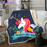 Sugan Life Unicorn Microfiber Large Round Beach Towel Thick Terry Cloth Tassels Blanket Free shipping
