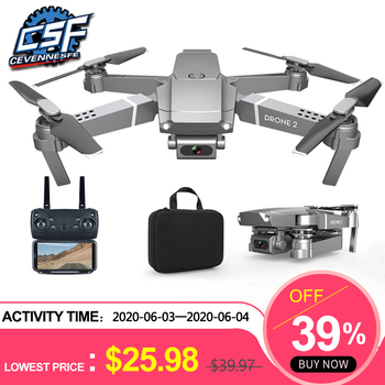 2020 nowy E68 Drone HD szeroki kąt 4K WIFI 1080P FPV drony wideo na żywo nagrywanie Quadcopter wysokość do utrzymania dron z kamerą zabawki tanie i dobre opinie CEVENNESFE Z tworzywa sztucznego About 100 meters 24*20*5cm Mode2 30day Silnik szczotki 3 7v 4 kanałów Baterie Instrukcja obsługi
