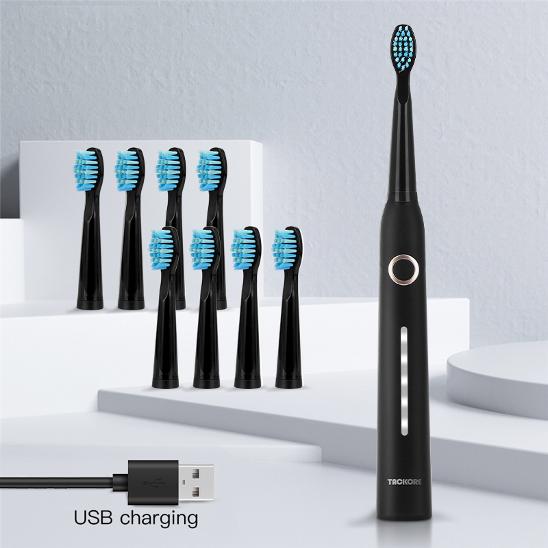 Sonic Electric Toothbrush 5 Modes Upgraded Adult Waterproof USB Rechargeable Smart Timer With Brush Head