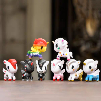 Unicorn Horse Pony Vinyl Dolls Cartoon Anime Action Figures Super Cute Toy Kids Christmas Gifts for Children