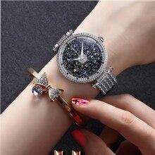 Hot Sell Quartz Watches Luxury PB Brand Women Watch Glitter Shiny Crystal Diamond Rose Gold Ladies Wristwatch Water Proof HL639