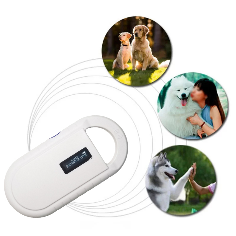Free shipping ISO11784/5 FDX-B RFID handheld microchip scanner for dog,cats,horse,Animal pet ID reader chip transponder USB