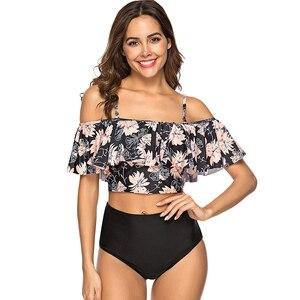 Image 3 - 2020 seksowne Bikini Lady Push up strój kąpielowy bandaż Bikini Set brazylia lato plaża strój kąpielowy Bikini damskie drukuj CB