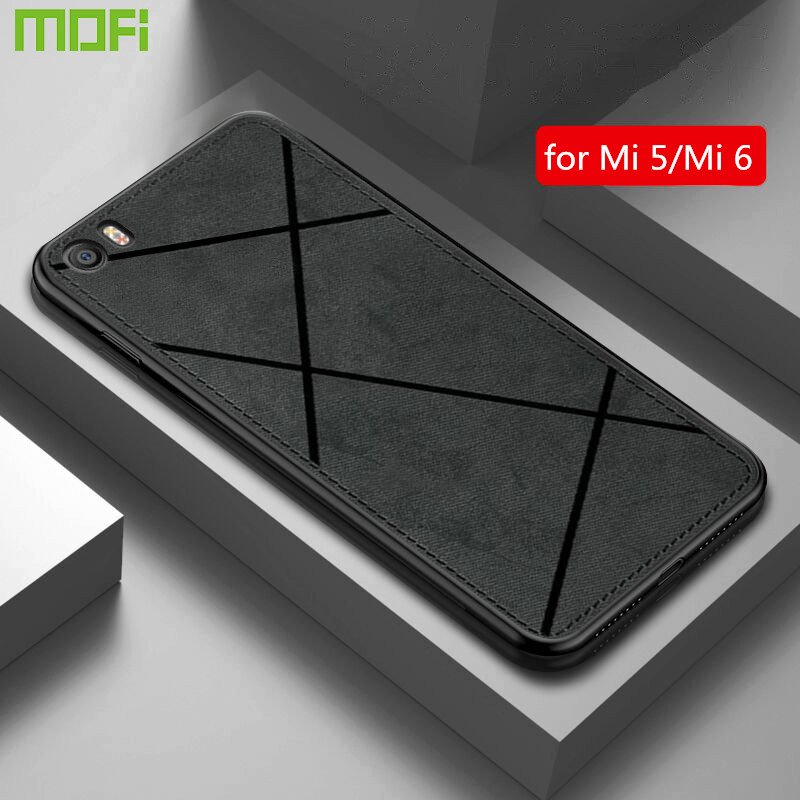 for xiaomi mi 5 case cover xiomi 6 5 shockproof back cover cloth tpu MOFi mi5 mi6 soft housing capas anti-knock case