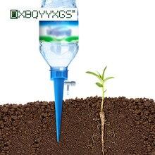 12 шт. садовое Капельное оросительное устройство для растений в горшках автоматический капельница инструмент ленивый человек полив цветы система регулируемый поток воды