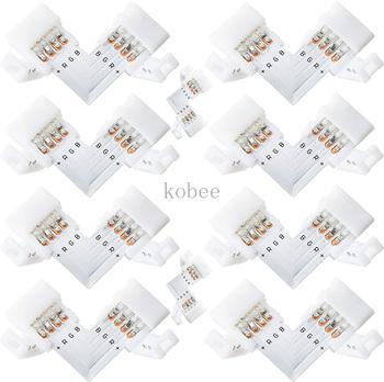 5 sztuk 10mm 4 Pin L kształt złącze listwy RGB LED 90 stopni narożne złącza dla 5050 2835 3528 listwy RGB LED Light tanie i dobre opinie CHTPON CN (pochodzenie) 4pin 10mm L Shape Connector 5050 RGB color led strip