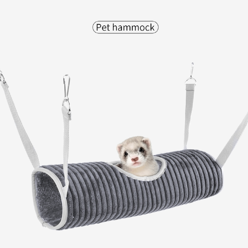 Winter Warm Hamster Hammock Tunnel for Small Pet Sugar Glider Tube Swing Bed Nest Sleeping Bed Rat Ferret Toy Cage Accessories