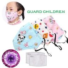 1Pc PM 2,5 Anti Staub Gesicht Mund Maske Reusable Atmungs Mit Atem Ventil Antibakterielle medizinische maske Cartoon Panda Kinder der