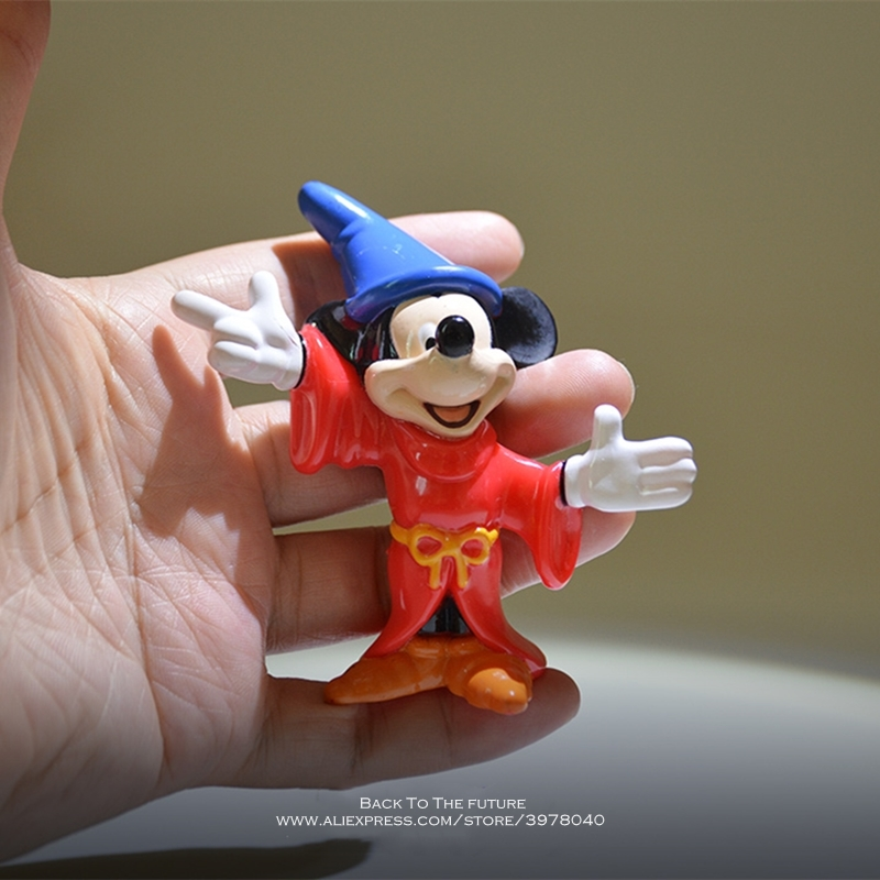 Disney Mickey Mouse Magicians 8cm Mini Doll Action Figure Anime Decoration Collection Figurine Toy Model For Children Gift