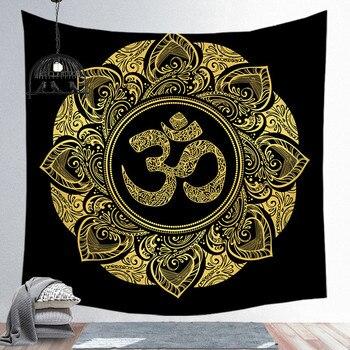 Sun Moon Rune Series Tapestry Wall Hanging ręcznik plażowy z nadrukiem mata poliester cienki koc mata do jogi szal mata dywan Home Decor