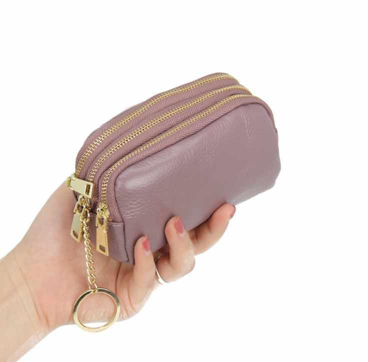 本革の女性の財布女性の小さなクラッチ女性walet portomonee rfid高級ブランドマネーバッグジッパーコイン財布