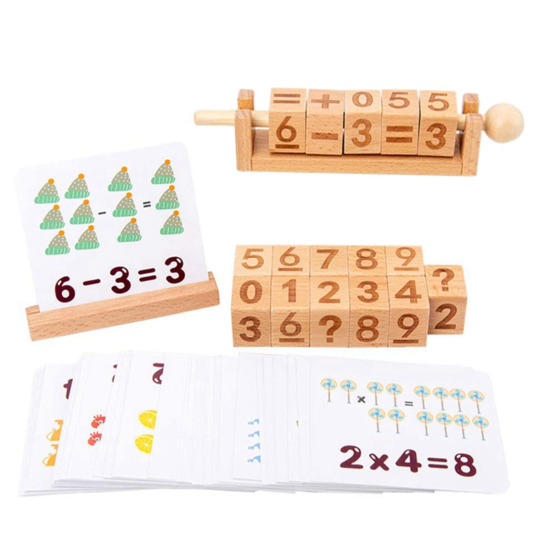 3D Wooden Blocks Spell Learning Game Pairing Cognitive Cards Toys Educational Toy
