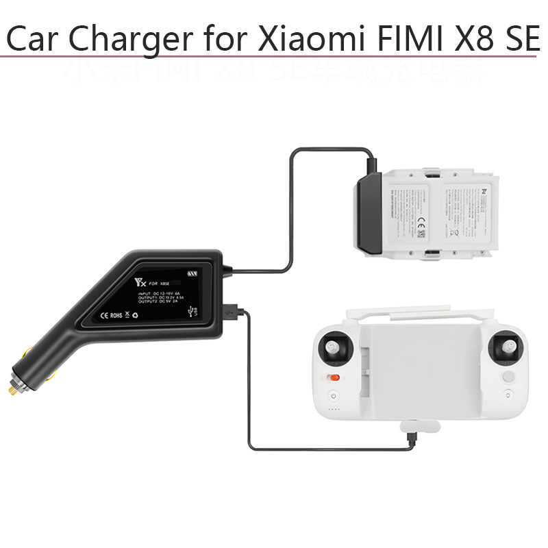 Intelligent Car Charger Adapter Fast Charging Hub Remote Controller Battery Charger For Xiaomi FIMI X8 SE Quadcopter Accessories