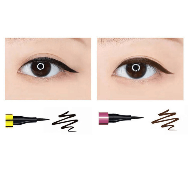 Black Brown Eyeliner Eyeliner Eye Makeup Tools Makeup Quick-Dry Waterproof Eyeliner Outline Big Eyes Cosmetics Birthday Gift 2