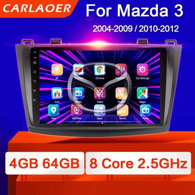 マツダ3 2004 2013マックスアクセラアンドロイド9.0カーdvd gpsラジオステレオ1グラム16グラムwifi無料地図クアッドコア2喧騒車のマルチメディアプレーヤー