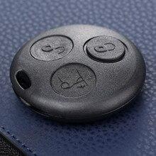 3 Botón de Auto clave funda/carcasa de repuesto Fob para Mercedes Benz SMART Fortwo ciudad Coupe Cabrio Crossblade Roadster