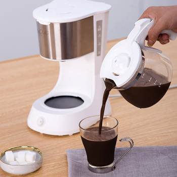 220V Home Coffee Machine Household Espresso Maker Large Capacity Glass Kettle Coffee Powder Filter Anti-Drip Insulation Teapot 5