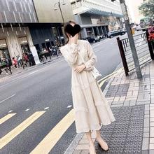Autumn Dresses 2019 New Fashion Chiffon French Long Sleeve