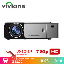 VIVICINE 1280x720p HD portátil proyector opción Android 7,1 HDMI USB 1080p casa teatro Proyector WIFI Mini Led Proyector(China)