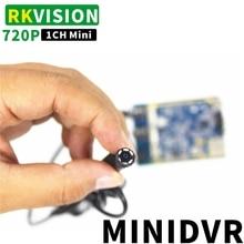 מיקרו 1CH AHD DVR אינפרא אדום ראיית לילה מקליט וידאו תמיכת TF כרטיס מיני נגד גניבה ניטור סוד 720P מקליט