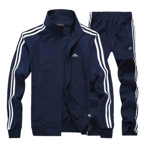 140 кг можно носить спортивный костюм для мужчин 8XL Свободный свитшот Набор Классическая теплая спортивная одежда большой размер Спортивная ...
