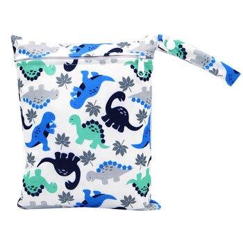 20*25cm Mini Diaper Wet Bag Single Pocket Zipper Baby Bags For Mom Maternity Travel Stroller Bag PUL Nappy Diaper Bag Wetbag - AS-MB-08