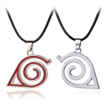 Fashion New Pendant Necklace Double Bands Konoha Sign For Men And Women Wholesale And