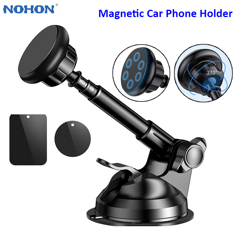 Telescopic Magnetic Phone Holder for iPhone 11 Pro Max X 8 7 Plus Universal Car Phone Holder Windshield Dashboard Mount Bracket|Phone Holders & Stands| |  - title=