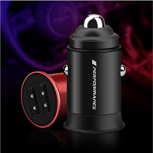 цена на 3.1A Display Dual USB Car Charger Universal Mobile Phone Aluminum Car-Charger for Bmw M Logo M2 M3 M4 M5 M6X 320i X1 X3 X4 X5 X6
