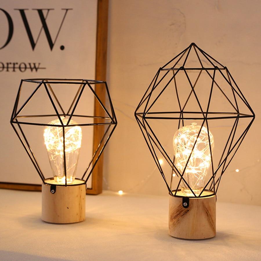 thrisdar ins nordic minimalista cobre lampadas led candeeiros de mesa ferro madeira cabeceira mesa leitura luz