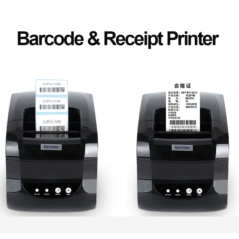 Xprinter Thermal Label Barcode Receipt Printer 20mm-80mm Adhesive Sticker Paper for Mobile Phone Windows