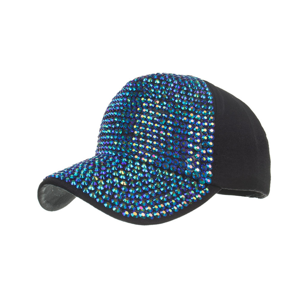 Men Women Baseball Caps Fashion Adjustable Cotton Cap Star Rhinestone Cap Outdoor Sun Hat Adjustable Sports caps in summer#T2 6