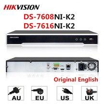 מקורי Hik אנגלית גרסה DS 7608NI K2 DS 7616NI K2 8CH 16CH מקסימום תומך 8MP IPC 4K H.265 NVR רשת מקליט וידאו דיגיטלי