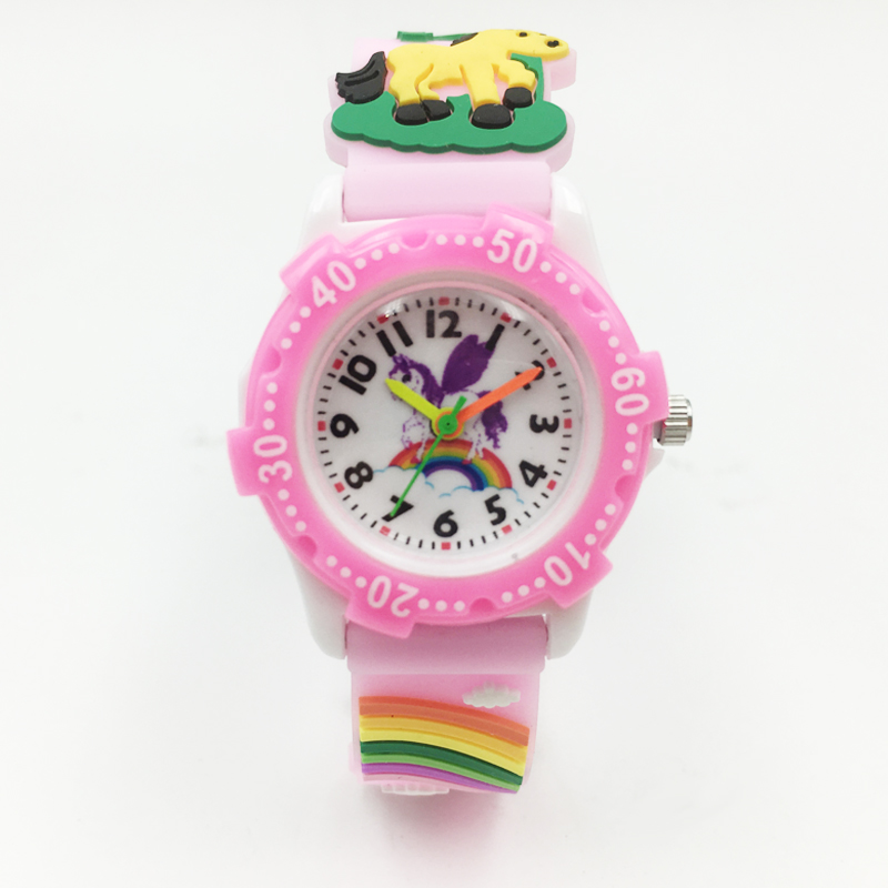 Holy Unicorn Kids Girls Quartz Watch Horse Pattern Silicone Strap Children Boy Wristwatch Student Waterproof Watches Relojes New